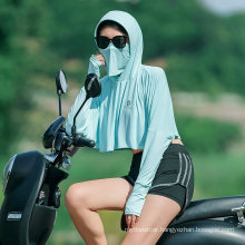 Rockbros Outdoor UV Protection Quick-Drying Thin Sun Protection Clothing Hooded Jacket Women