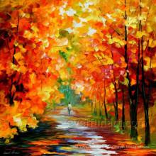 Pintura a óleo handmade da paisagem da arte da lona