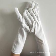 gants d'inspection de parade de coton blanc