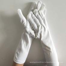 Baumwollparade Inspektionshandschuhe weiß