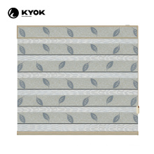 KYOK pattern by designer 35'' embroidered zebra blinds