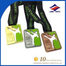 Custom Metal Slug Fest Karate Medals Hollow out Award Medals