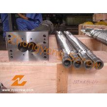 Jwell Parallel doppelte Schnecke und Zylinder für PE / PP / PVC-Pelletizer und Granulator