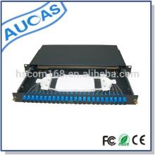 Aucas 24 puertos de fibra óptica patch panel 1U montaje en rack