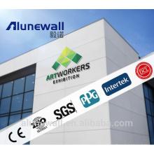 Prix concurrentiel pur blanc PE / PVDF / FEVE revêtement panneau composite en aluminium 2 mètres de largeur