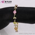 73700 Alibaba forma de hoja de alta calidad diseñada pulsera 14k joyas de oro al por mayor
