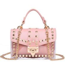 2021summer New Trends Designer Bag Fashion PVC Transparent Jelly 2 in 1 Women Handbags