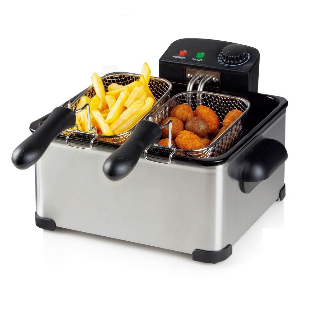 Non Stick Enamel Electric Deep Fryer