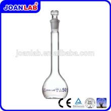 JOAN LAB Cristal de vidrio de alta calidad Borosil Volumetric Flask, Laboratory Glassware