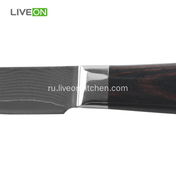 Pakka Wood Damascus Paring Knife