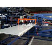 EPS&mineral wool/Z-Lock sandwich panel production line for sale