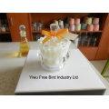 Exquisitos tarros de vidrio blanco hechos a mano para velas