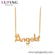 44996 xuping 18k bañado en oro collar de cadena de Angela colgante