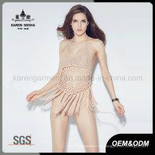 Karen New Fashion Damen Fransen Crochet Bikini Schwimmen tragen