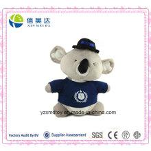 Lustiges gefülltes tragendes T-Shirt Koala-Plüsch-Tier-Spielzeug