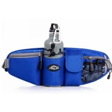 Sport Bottle Nylon Waist Bag for Men and Women
