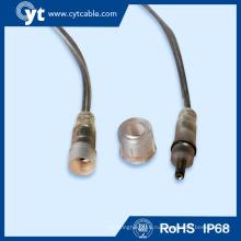 5.5*2.5 мм светодиодный кабель Водонепроницаемый Разъем кабеля питания постоянного тока