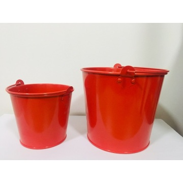 Colored Mini Metal Buckets with Handles