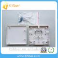 Montage FTTH 2 port de fibre retardateur de flamme / 86 Panneau de raccordement Socket