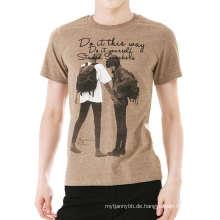 Top-Qualität Mode Custom Design Baumwolle Männer T-Shirt