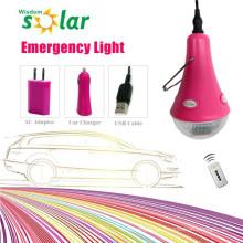 Venda quente, iluminação de emergência de LED carro com carregador de carro