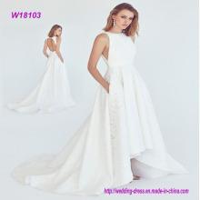 De alto nivel de personalización de lujo maxi vestido de novia con bolsillo