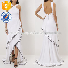 New Fashion White Cross Strap Backless Evening Gown Manufacture Wholesale Fashion Women Apparel (TA5267D)