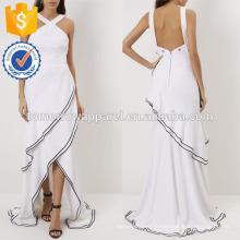 Новая мода Белый крест ремень спинки вечернее платье Производство Оптовая продажа женской одежды (TA5267D)