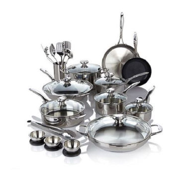 Good Quality Puck 27 Piece Stainless Steel Cookware Set