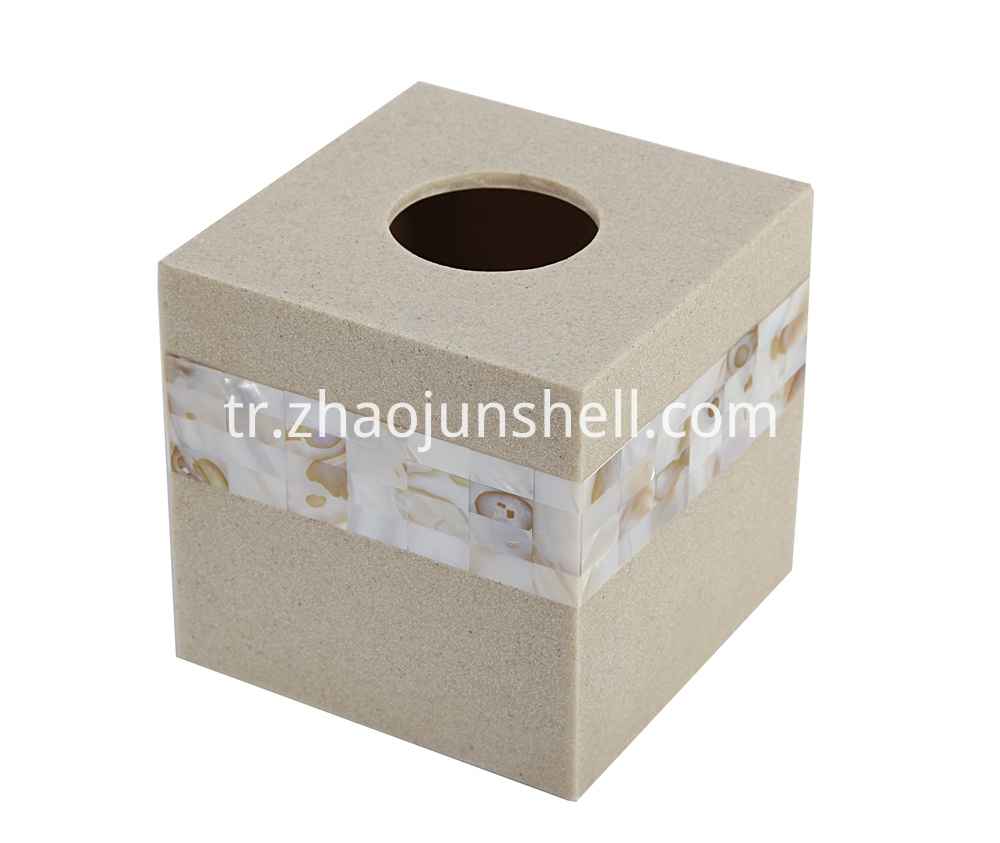 sanstone square tissue box