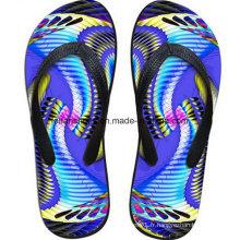 Les plus populaires 3D Impression Casual Flip Flop Slipper Chaussures (FF68-16)