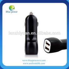 Mini tamanho 2 porta usb carregador 5v 2.1a carregador de carro promocional USB com 2 portas USB