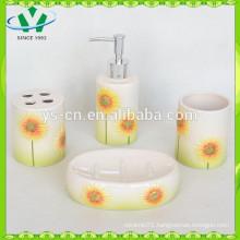 Sunflower Ceramic Bathroom Accessory,Practical Bathroom Accessory