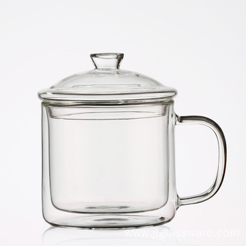 Drinking Glassware Glass Coffee Cups With Lids