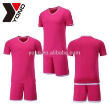 YONO OEM 100% ployester conjuntos de camisa de futebol thai quantidade de futebol trem camisa de sublimação técnica