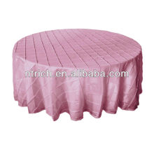 Luxury taffeta wedding tablecloth, pintuck table linen for weddings