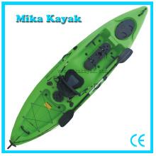 Kayak de mar barato Barco de pesca al por mayor sola canoa con timón