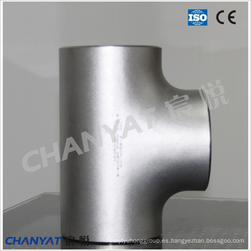 A403 (CR347, S34700) Tee de ajuste de acero inoxidable ASTM
