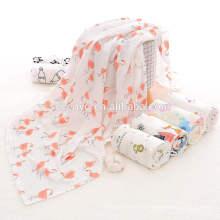 Популярные 2018 полотенце,100% органический хлопок Импортированный 1шт Муслин хлопок одеяло новорожденный полотенце Жираф