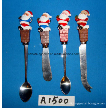 Christmas Decorative Spreader with Resin Handle
