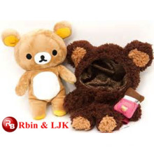 OEM soft ICTI plush toy factory plush brown bear toy