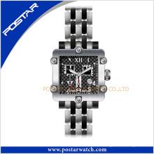 Reloj suizo impermeable de las mujeres del acero inoxidable de la fábrica de China