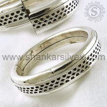 Glittering Fashion Indian Jaipur Silver Jewelry Bangle Supplier Wholesale Silver Jewelry India
