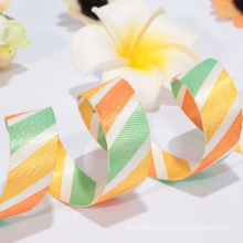 Factory direct sale sheer ribbon/ polyester woven ribbons for celebrate it