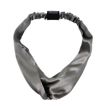 Wholesale Custom Logo Head Wraps Designer Silk Tie Headband for Girls