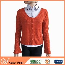 High Quality Latest Design Ladies Spring Sweater Cardigans 2017