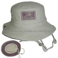 Chapeau de seau à pêche en coton lavé en coton à revêtement (TMBH03777-1)