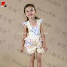 Wholesale baby girls ruffle bubble romper