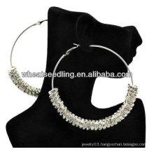 Hot Crystal Spacer DIY Basketball Wives Hoop Earrings! Shamballa Earrings BWE66