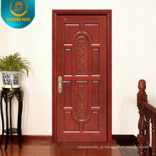 Novo design e venda quente porta de madeira para Interior